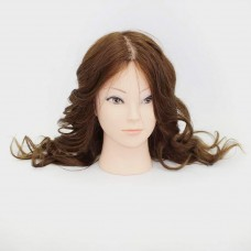 Голова учебная 100% натуральные волосы, 40-45 см