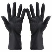 Силиконовые перчатки многоразовые(черные)