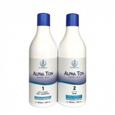 Alpha Ton Набор горячий ботокс для волос 500ml