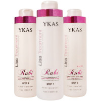 Набор кератинового выпрямления YKAS Rubi 1000/1000/1000